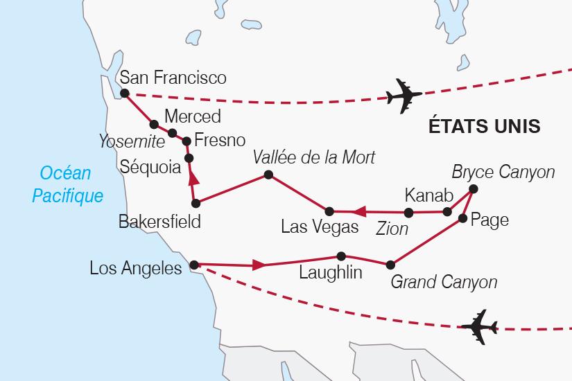 carte Etats Unis Panoramas de l Ouest Americain SH20_339 890273