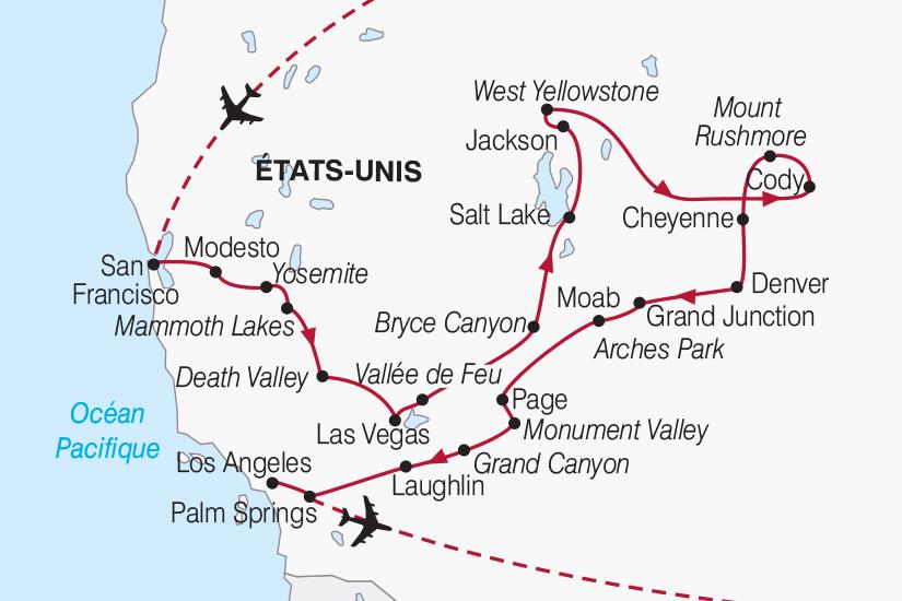 états Unis Itinéraire Dun Mois Dans Louest Américain