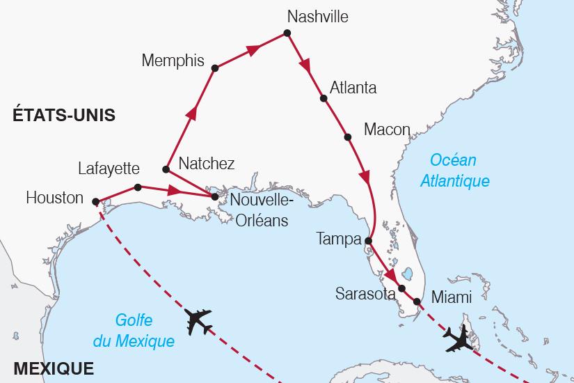 carte Etats Unis Texas Louisiane Floride SH20_339 648965