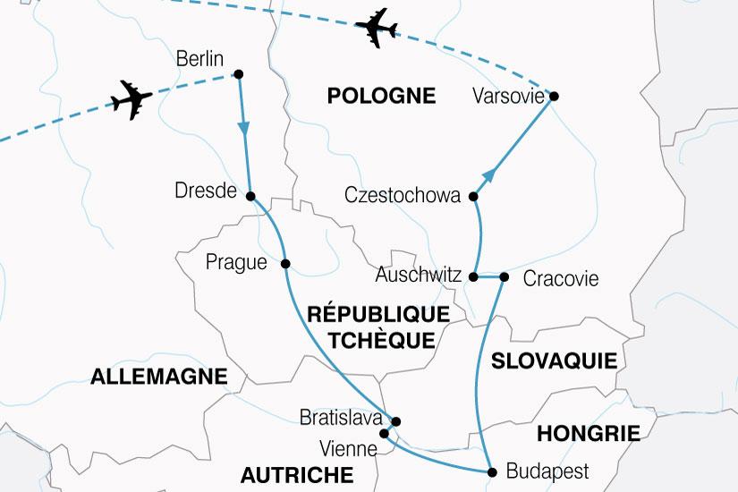 carte Europe Centrale Grand Tour 453913