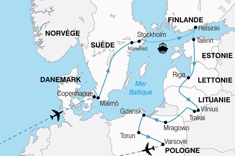 Carte Norvege Suede.Danemark Estonie Finlande Lettonie Lituanie Norvege Pologne Suede Stockholm Circuit Merveilles De La Baltique