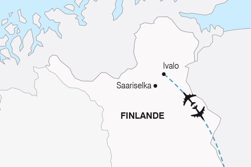 carte Finlande Charme Hivernal de Laponie SH19 20_319 811547
