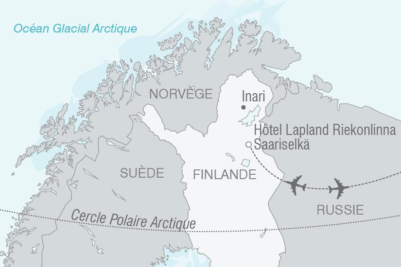 carte Finlande Magie Hivernale de Laponie NT19 20_314 124626