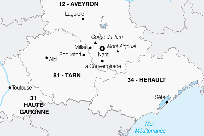 carte France Aveyron Portes Du Soleil 656022