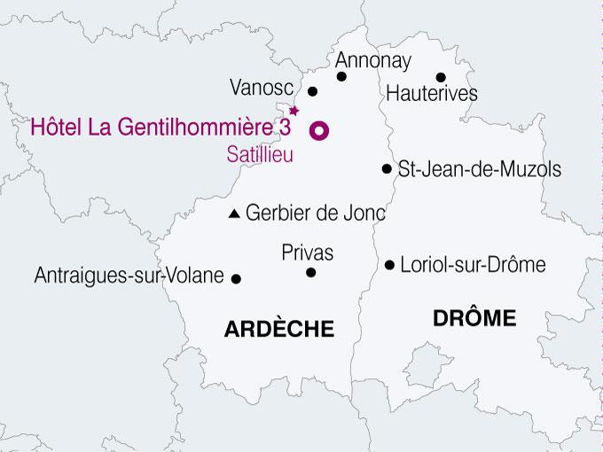 carte France Charme Ardechois  nthiver 359240