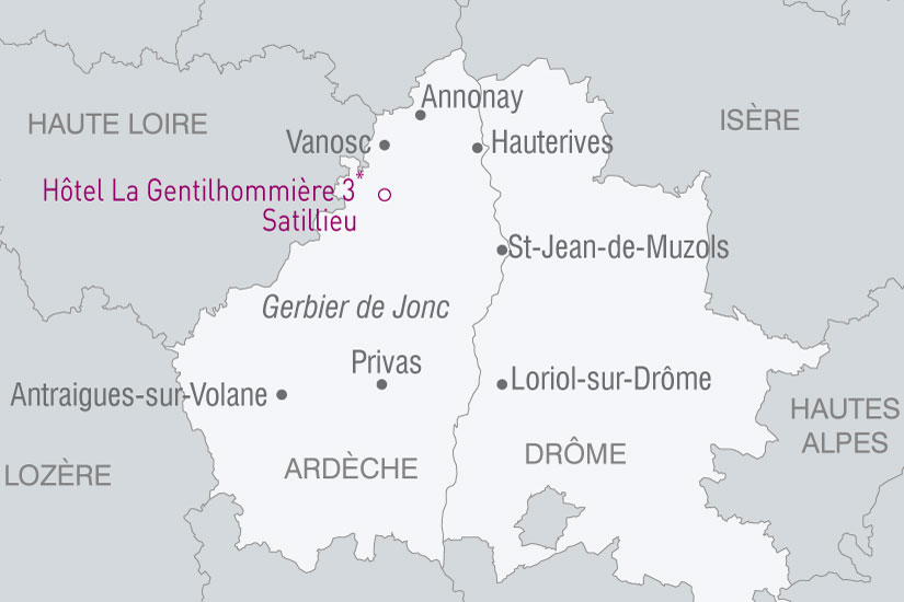 carte France Charme Ardechois 878627