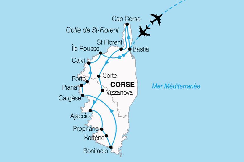 carte France Corse Nord Sud 564746