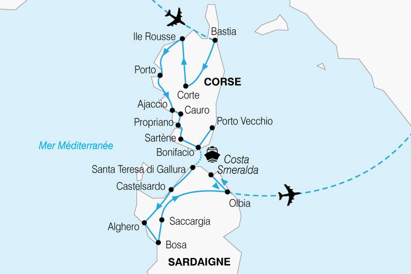 carte France Corse Sardaigne 485127