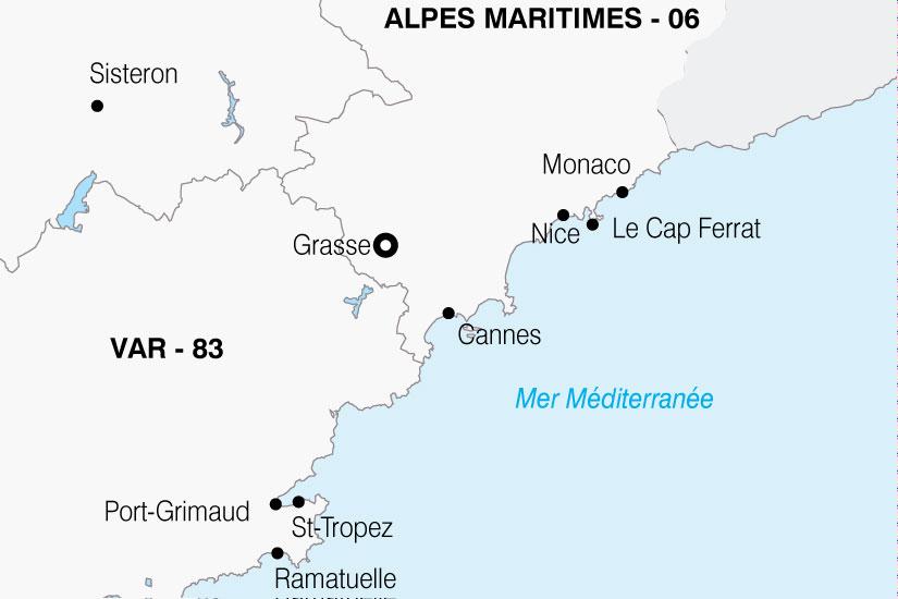 carte France Cote Azur 750381