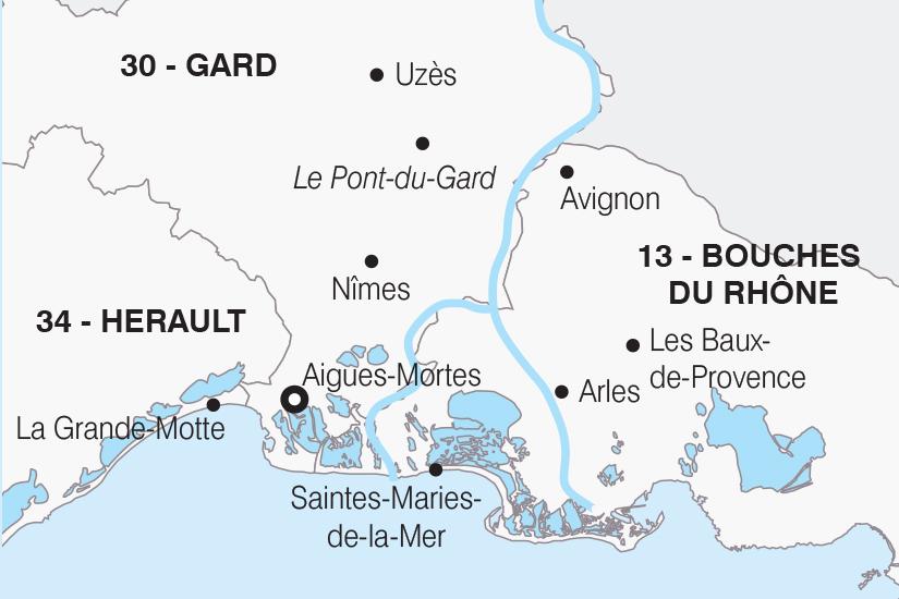 carte France Entre Camargue et Provence SH20_339 609672