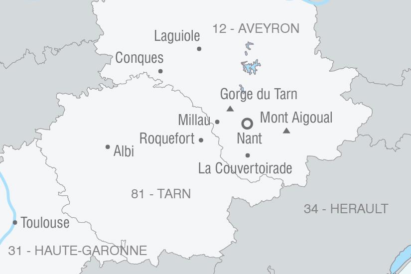 carte France L Aveyron pays de tradition NT20_341 650820