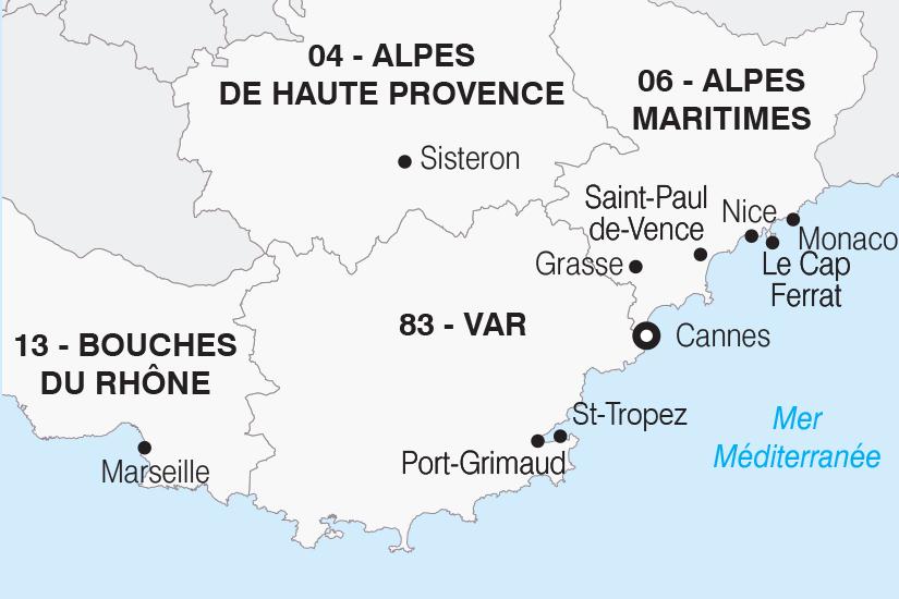 carte France La Cote d Azur SH20_339 162431