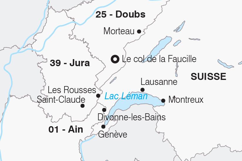 carte France Le Jura et la Suisse SH 21 22_382 420404