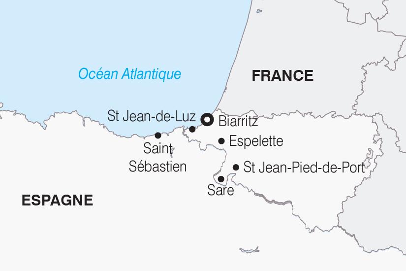 carte France Le Pays Basque SH 21 22_382 250557