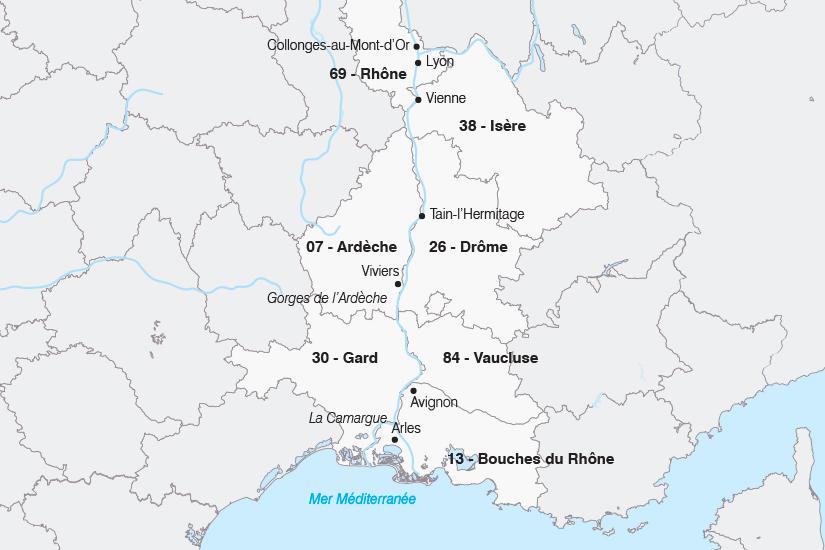 carte France Le Rhone au fil de l eau SH19 20_319 862729
