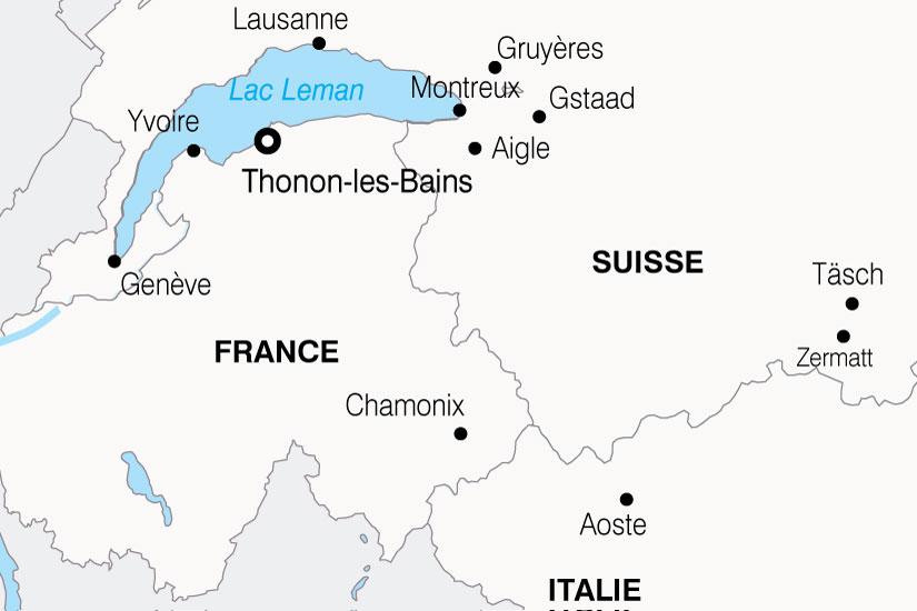 carte France Leman Magie Alpes 766095