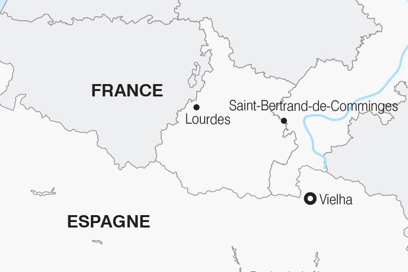 carte France Les Pyrenees Franco Espagnoles SH 21 22_382 519293