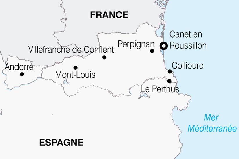 carte France Roussillon Catalogne Andorre 270873