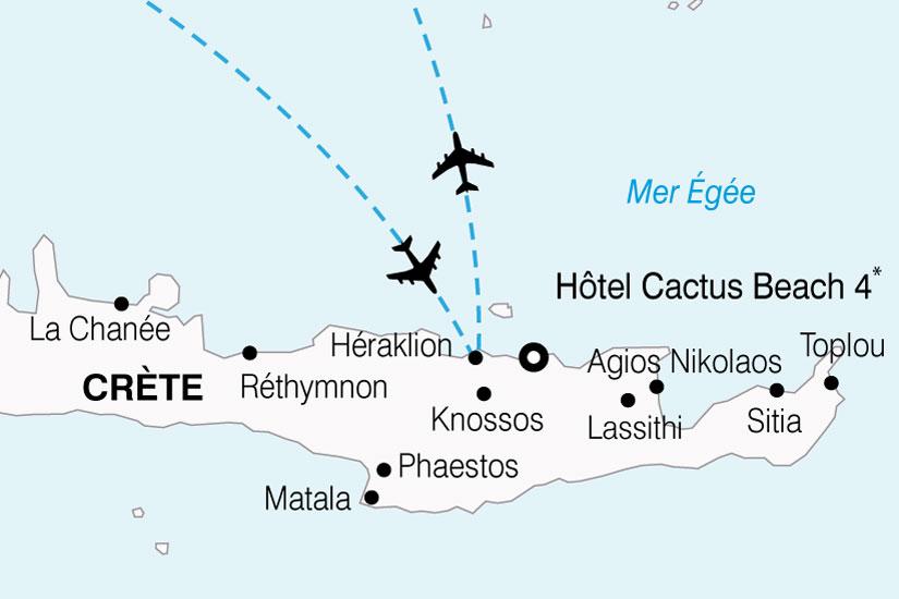 carte Grece Crete Hotel Cactus Beach 452706