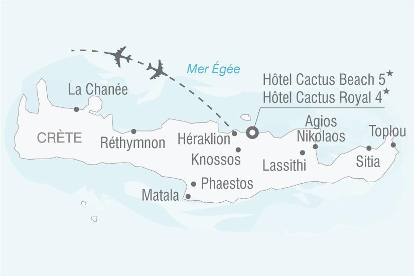 carte Grece Crete Hotel Cactus Royal Cactus Beach nt 2019_293 110130