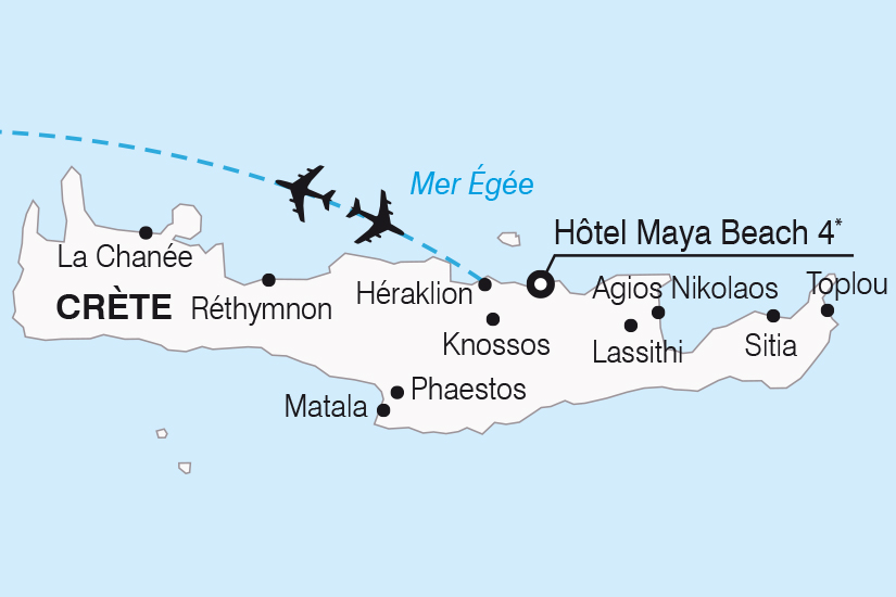 carte Grece Crete Hotel Maya Beach 4 a Gouves SH20_339 709461