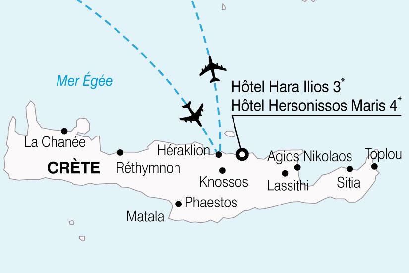 carte Grece Crete Hotels HaraIlios Hersonissos 740889