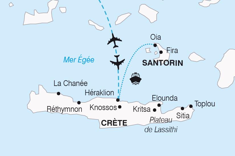 carte Grece Douceurs Mediterraneennes entre Crete et Santorin SH20_339 356895