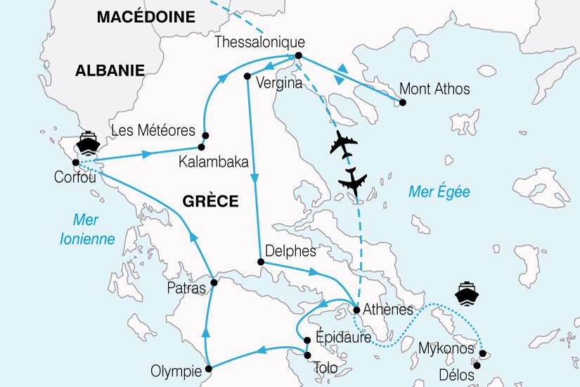carte Grece Odysee Grecque 887303