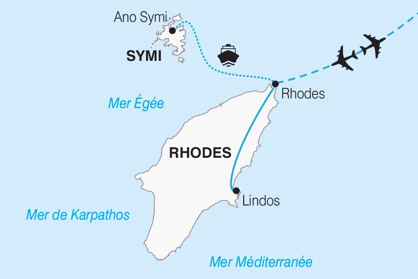 carte Grece Rhodes l ile aux Papillons et l ile de Symi 2019_292 620045