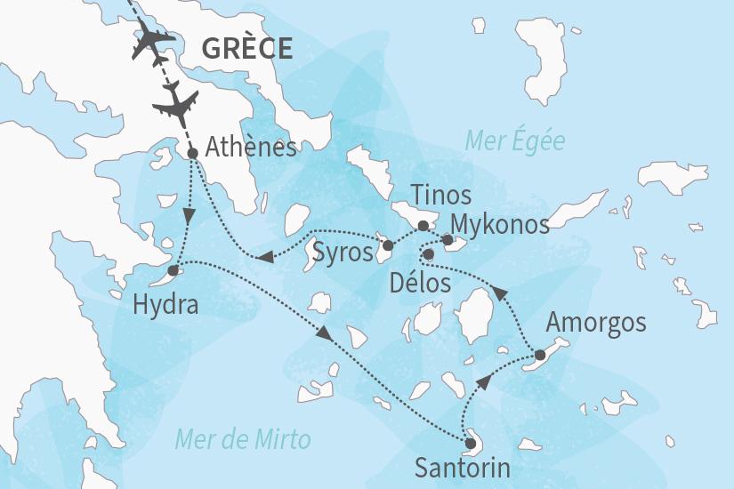 carte Grece croisiere PONANT Odyssee magique dans les iles grecques_375 440332