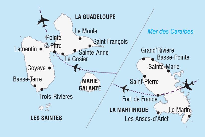 carte Guadeloupe Martinique Carnavals Antillais_306 766472