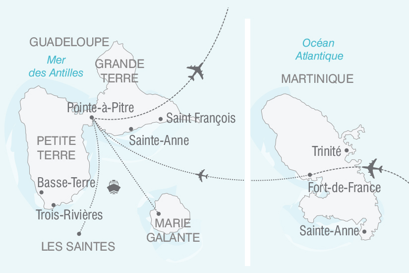 carte Guadeloupe Martinique Cocktail des Antilles nt 2018_261 281328