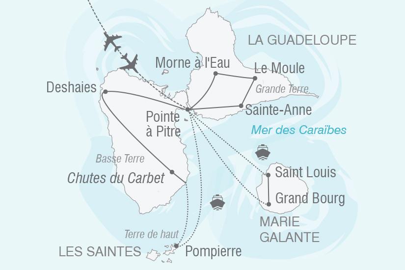 carte Guadeloupe Merveilleuses Iles de Guadeloupe NT19 20_314 188367
