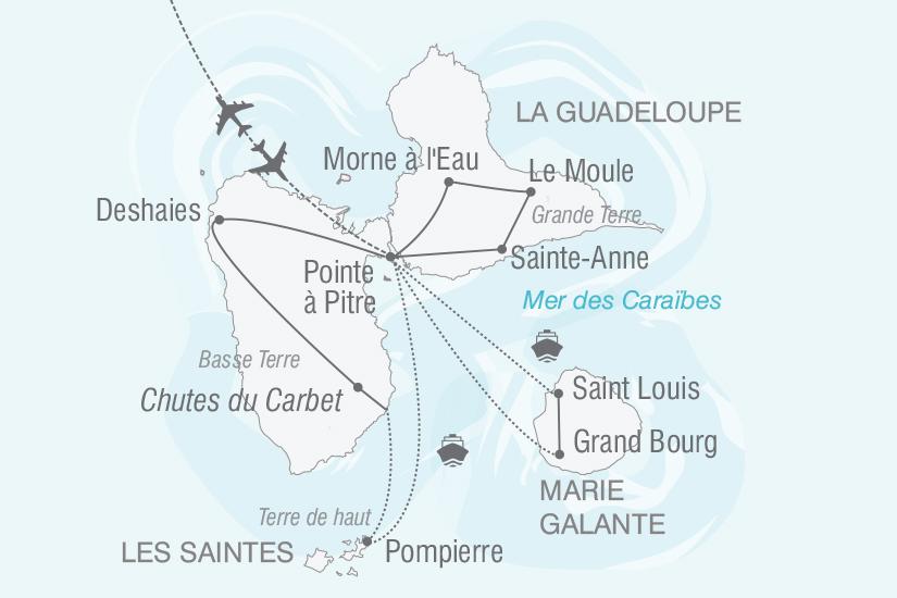 carte Guadeloupe Merveilleuses Iles de Guadeloupe nt 2018_261 501888
