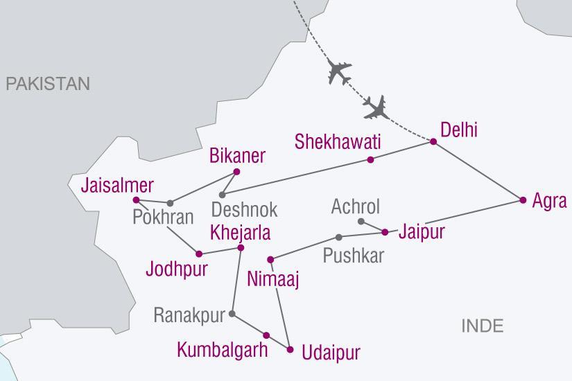 carte Inde Inde Des Maharadjahs 137064