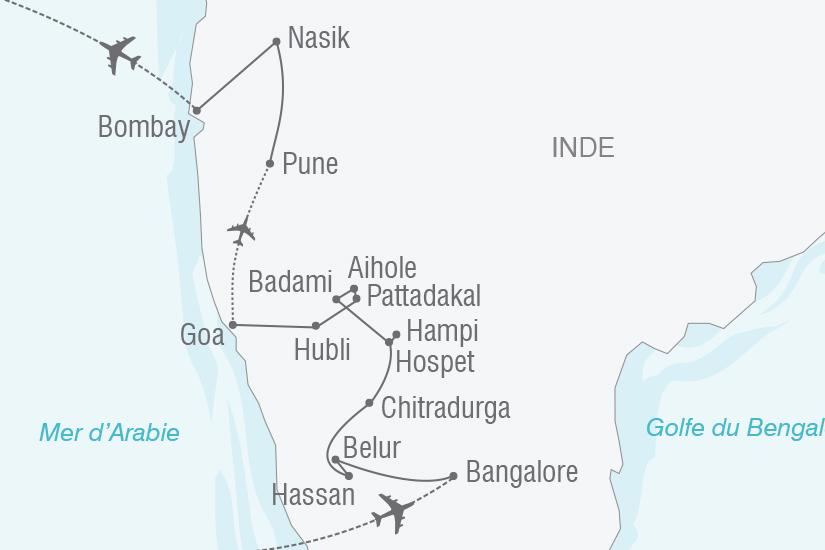 carte Inde Royaumes d Inde du sud et douceur de Goa NT20_341 452084