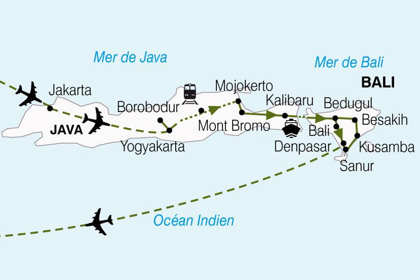 carte Indonesie Escapade Java Bali 159729