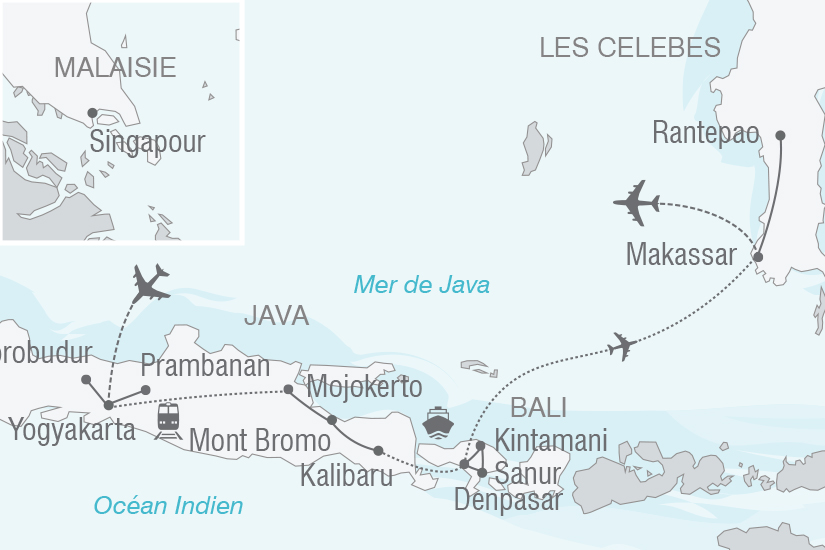 carte Indonesie Feeries Indonesiennes Java Bali les Celebes NT19 20_314 412603