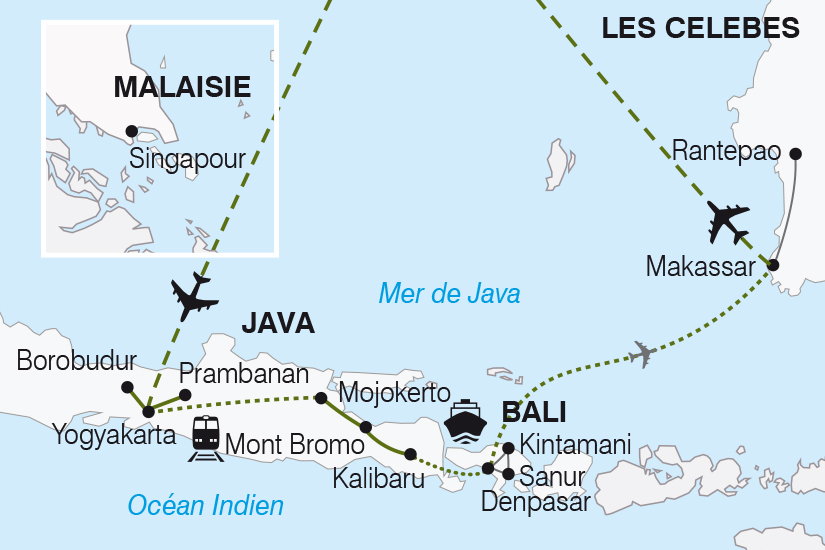 carte Indonesie Java Bali les Celebes Splendeurs Indonesiennes SH19 20_319 212422