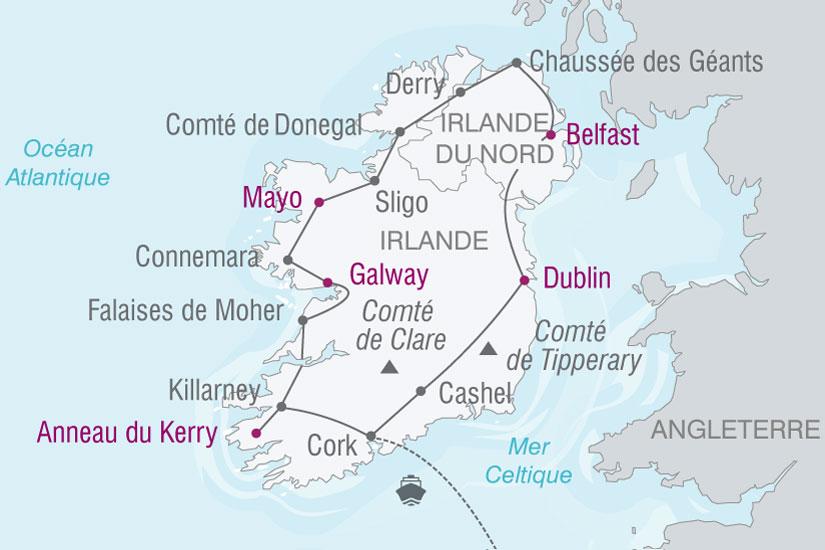 carte Irlande les deux Irlande 346862