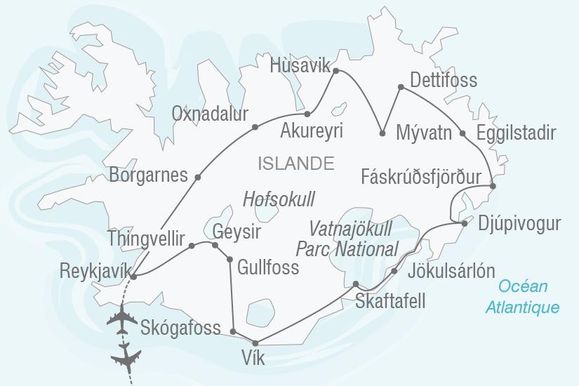carte Islande Echappee Belle en Islande NT19 20_314 155607