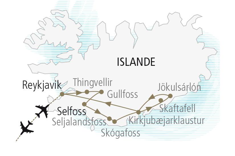 carte Islande Saga Islandaises et Aurores Boreales Nordiska 19 20_307 543910
