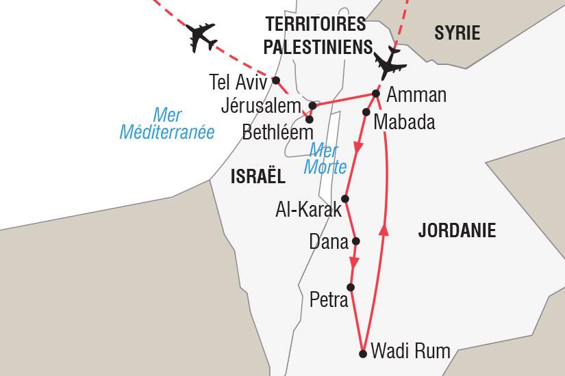 carte Israel Jordanie Nouvel An de Petra a Jerusalem_306 770819