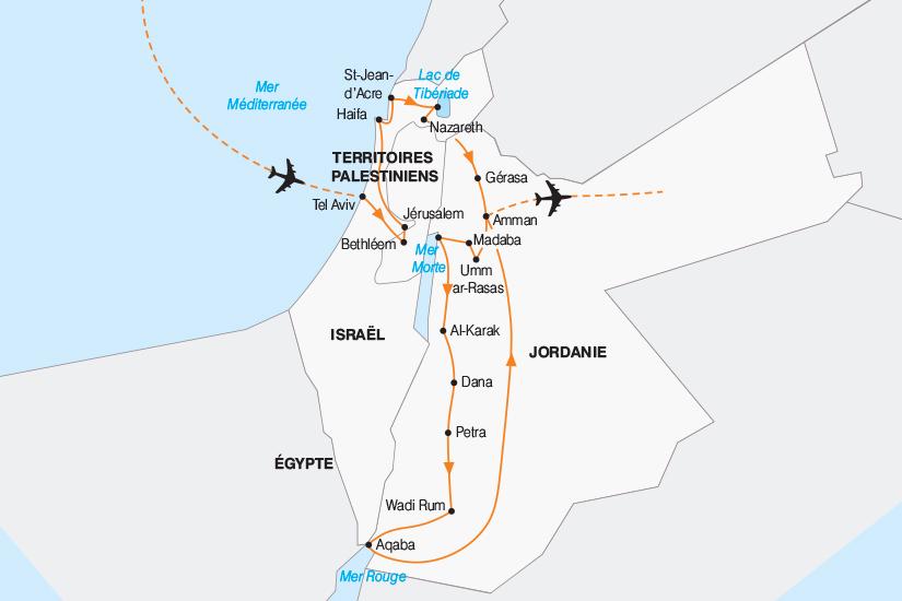 carte Israel Joyaux d Israel et de Jordanie 2018_267 762280