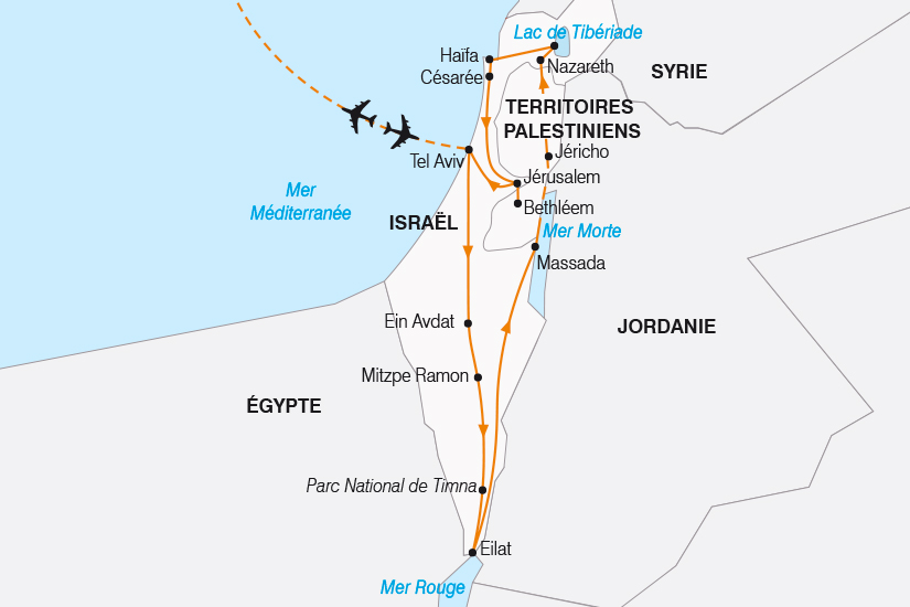 carte Israel Le Grand Tour d Israel SH19 20_319 167031