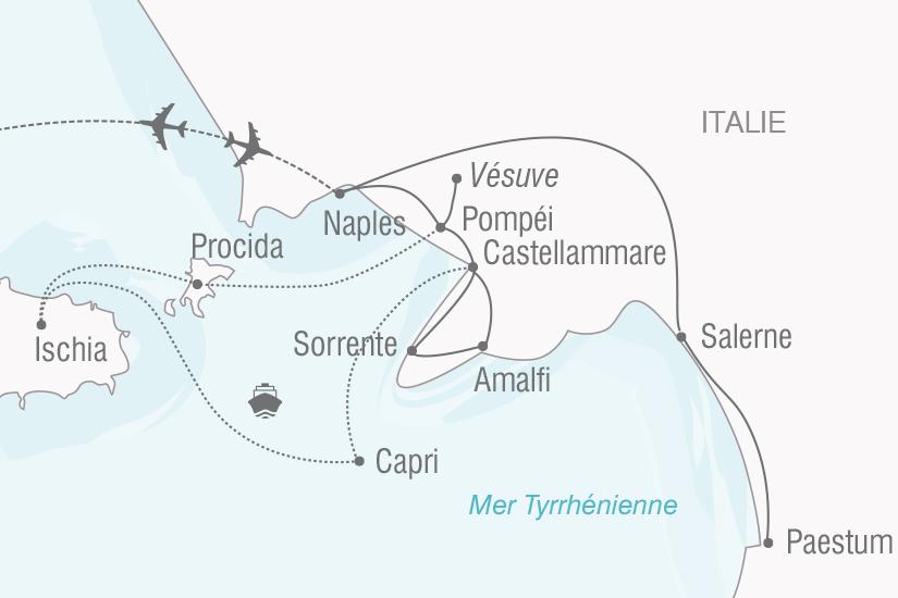 carte Italie Dolce Vita en baie de Naples NT20_341 407104