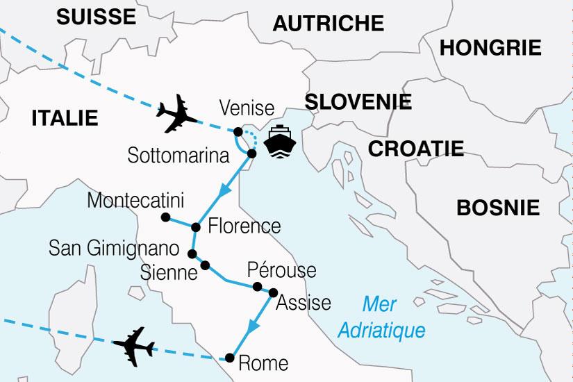 carte Italie Escapade Italienne 391661