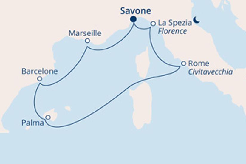 carte Italie France Espagne Croisiere des Alsaciens NT20_341 616555