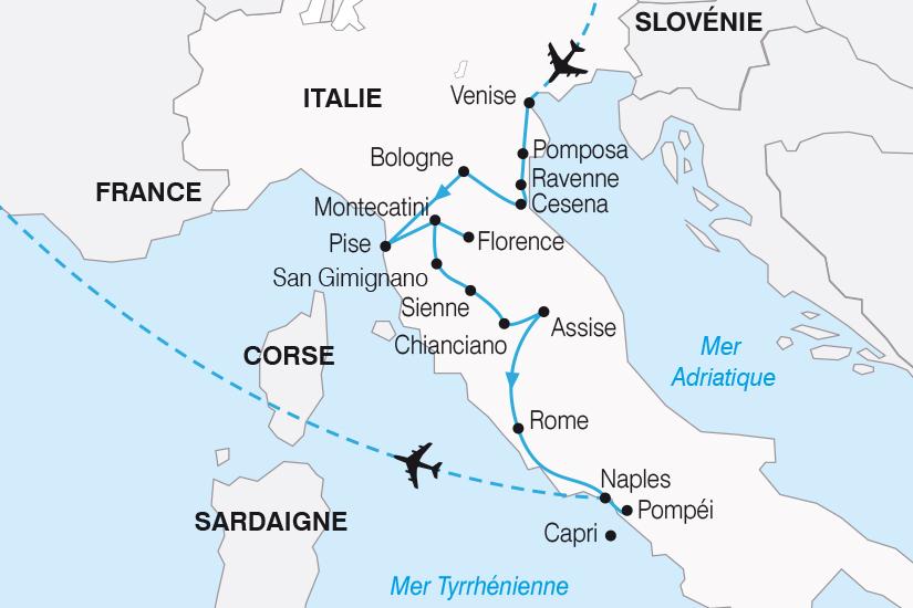 carte Italie Le Grand Tour d Italie SH20_339 438230