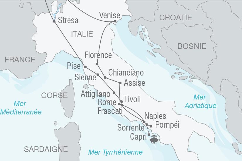 carte Italie Le Grand tour d Italie NT20_341 736553